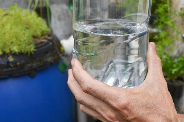 Le système permet de recueillir une eau claire et sans parasites.
